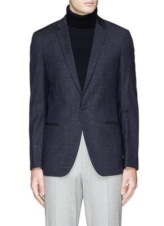 'Stirling' cross hatch stitching blazer