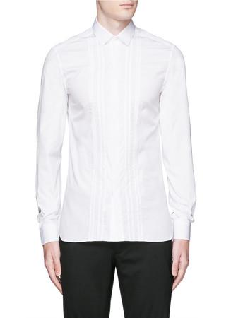 Stitch front tuxedo shirt