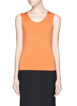 Stretch jersey tank top