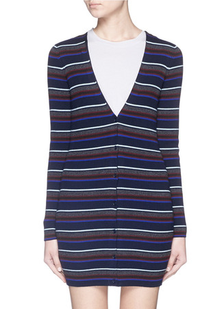 Stripe Merino wool cardigan