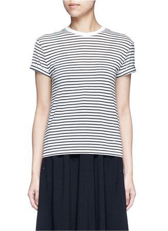Stripe superfine cotton T-shirt