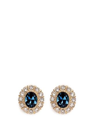Swarovski crystal pavé magnetic earrings