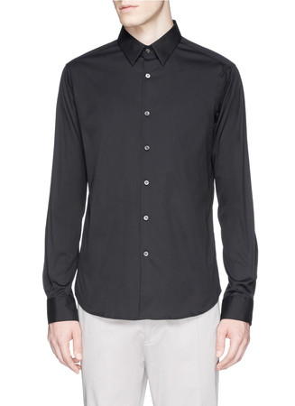 'Sylvain' stretch poplin shirt