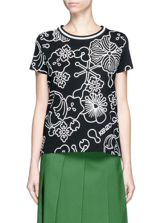 'Tanami' Flower printed T-shirt