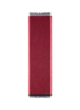 Tassel end wool blend scarf