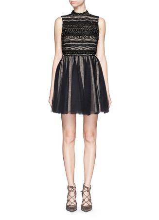 'Taya' embellished bodice tulle dress