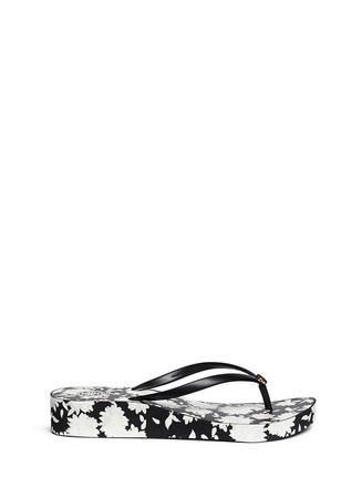 'Thandie' orchard print flip flops