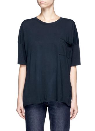 'The Big Tee' pocket oversized cotton T-shirt