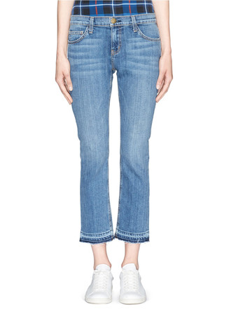 'The Cropped Straight' relax fit jeans