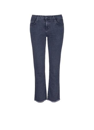 'The Kick' raw cuff flare jeans