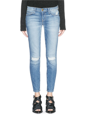 'The stiletto' distressed ankle grazer jeans
