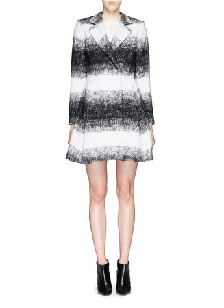 'Therese' wool-mohair blend midi A-line coat
