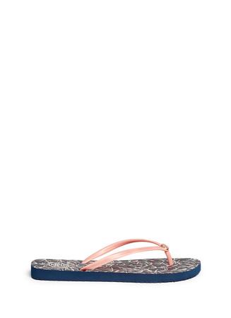 'Thin' floral print flip flops