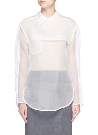 'Tino' sheer organza blouse