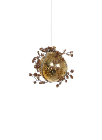 Tinsel wire Christmas ornament