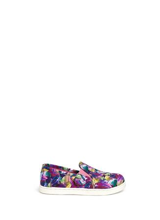 Tiny Avalon floral prism print canvas slip-ons