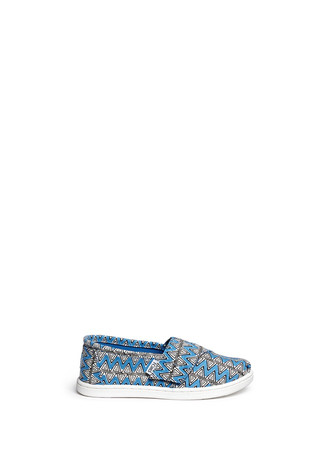 Tiny Classic chevron print canvas slip-ons