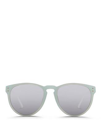 Titanium temple frosted acetate sunglasses