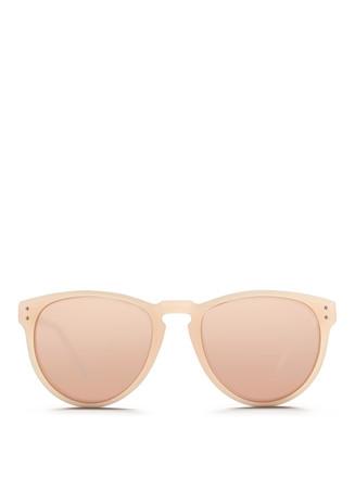 Titanium temple mirror sunglasses