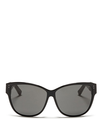 Titanium temple oversize acetate sunglasses