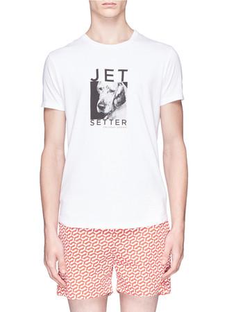 'Tommy' jet setter dog print T-shirt