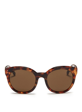 Tortoiseshell acetate cat eye sunglasses