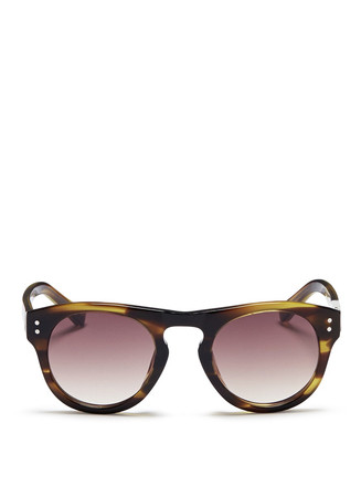 Tortoiseshell effect acetate sunglasses
