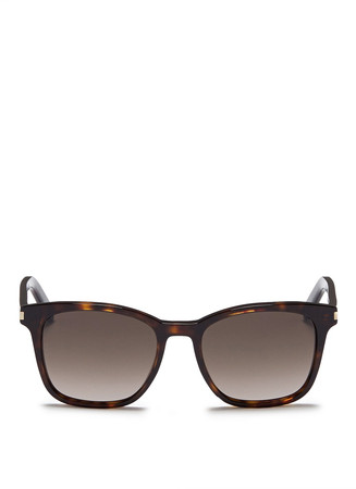 Tortoiseshell effect slim acetate sunglasses