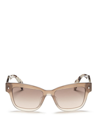 Tortoiseshell effect temple ombré acetate sunglasses