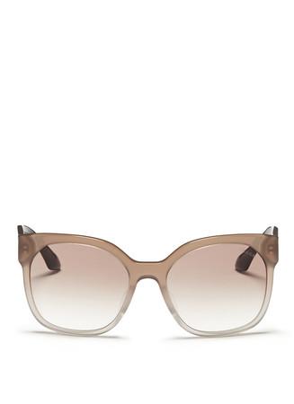 Tortoiseshell temple ombré acetate sunglasses