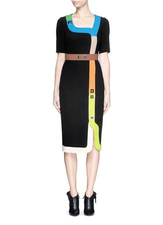 'Track' pinball stripe cady dress