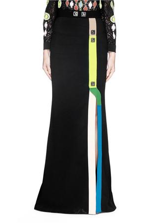 'Track' pinball stripe cady maxi skirt