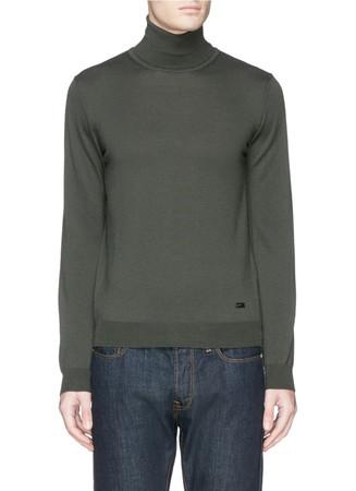 Turtleneck virgin wool sweater