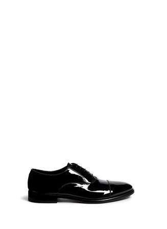 Tuxedo patent leather Derbies