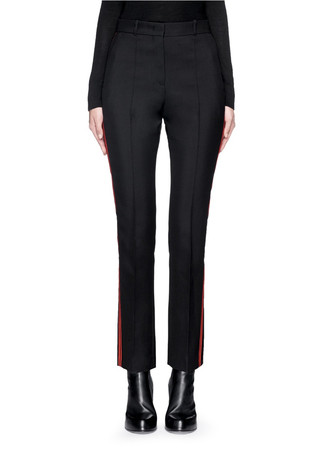 Tuxedo stripe cropped suiting pants