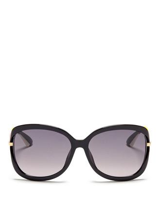 'Twisting F' suspended lens acetate sunglasses