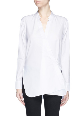 Two way cotton poplin shirt