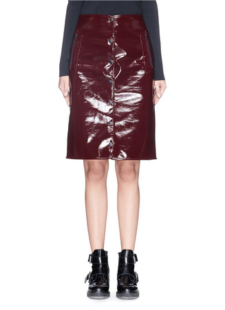 'Vail' coated wool blend skirt