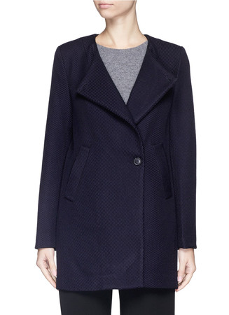 'Venizka' virgin wool blend twill coat