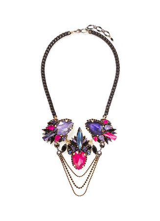 'Victoria Underground' floral crystal chain necklace