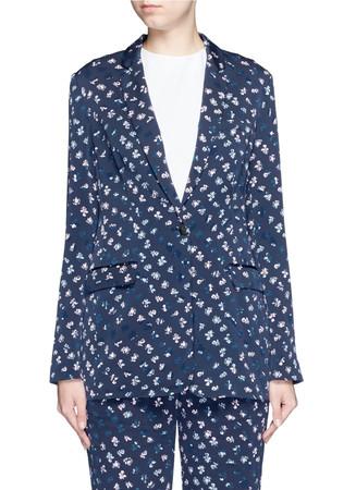 'Vinley' daisy bud print silk blazer