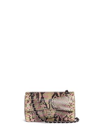 Vintage Chanel python leather 2.55 shoulder bag
