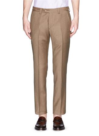 Virgin wool-cashmere pants