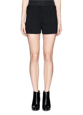 Waist tab crepe shorts