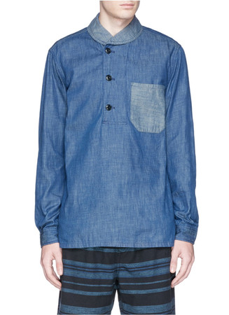 Wallace & Barnes shawl-collar popover shirt