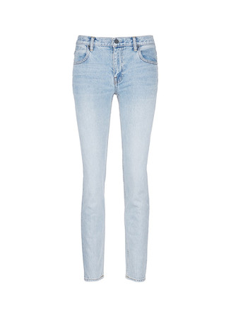 'Wang 002' washed tapered jeans