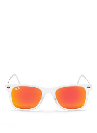 'Wayfarer Lightray' translucent acetate mirror sunglasses