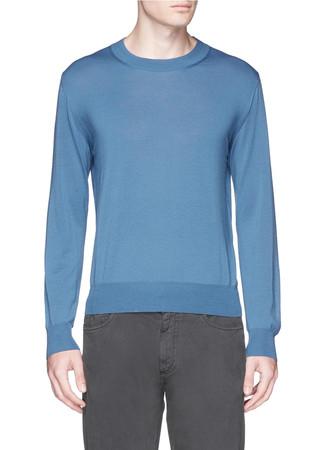 Wide crew neck sweater