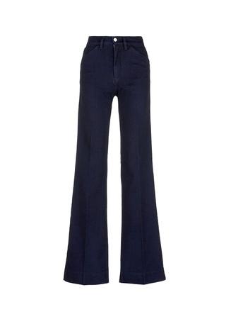 Wide leg broken twill jeans