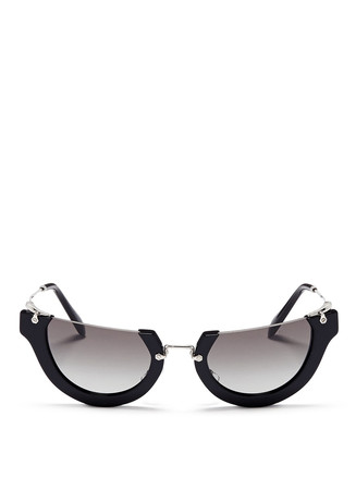 'Wink' rimless cat eye acetate sunglasses